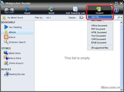 Cách đọc file  prc - Mobipocket Reader - Kindle